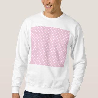Polka dots on sweet pink background sweatshirt