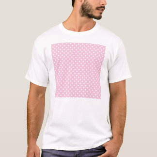 Polka dots on sweet pink background t-shirt