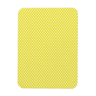 Polka Dots on Yellow Rectangular Photo Magnet