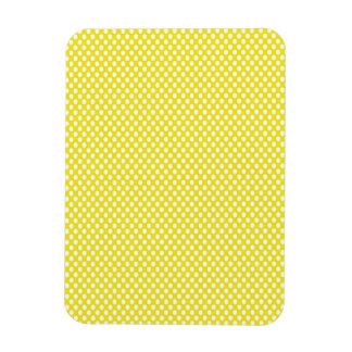 Polka Dots on Yellow Rectangular Photo Magnet