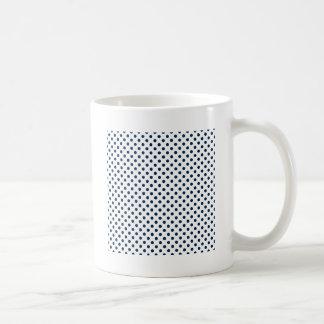 Polka Dots - Oxford Blue on White Mug