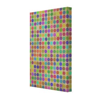 Polka Dots Pattern Fashion Vintage Retro Colors Canvas Print