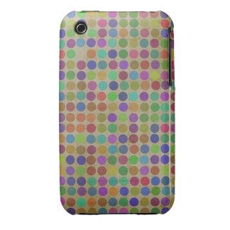 Polka Dots Pattern Fashion Vintage Retro Colors Case-Mate iPhone 3 Case