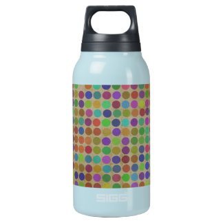 Polka Dots Pattern Fashion Vintage Retro Colors Insulated Water Bottle