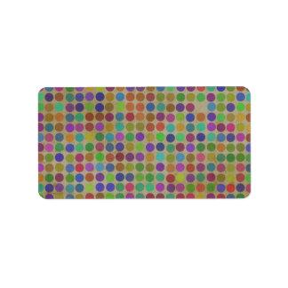 Polka Dots Pattern Fashion Vintage Retro Colors Label