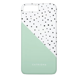 Polka Dots Pattern Mint Abtract Personalized iPhone 8 Plus/7 Plus Case
