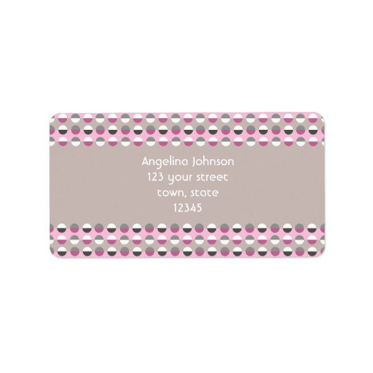 Polka Dots Pattern Modern Retro Chic Stylish Cool Label