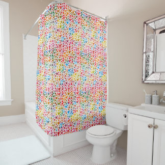 Polka Dots Pattern Shower Curtain