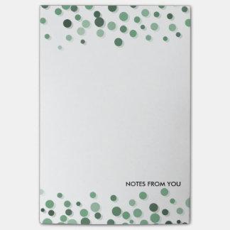 Polka Dots Pebbles Pattern Green Abstract Post-it Notes