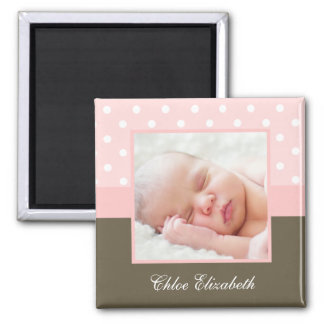 Polka Dots Photo Frame Refrigerator Magnet