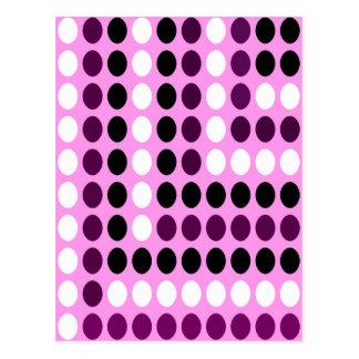 Polka dots - Pink, Purple, Black ! Post Cards