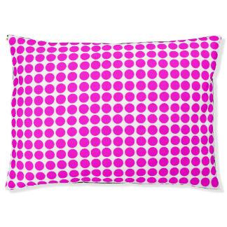 Polka Dots Print Lemon White Pink Pet Bed