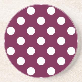 Polka Dots Purple Coasters