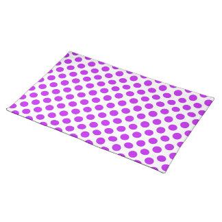Polka Dots Purple Placemat