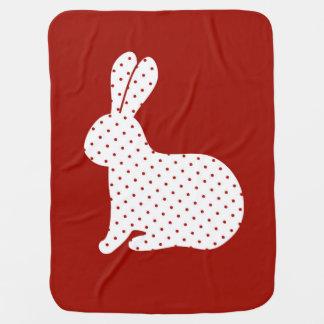 Polka Dots Rabbit Receiving Blanket