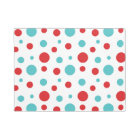 Polka Dots Red and Blue Doormat
