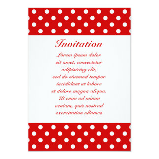 Polka Dots Red + Custom Color Card