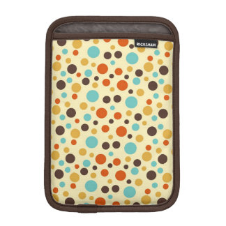 Polka Dots Retro Colors Blue Yellow Red Sleeve For iPad Mini