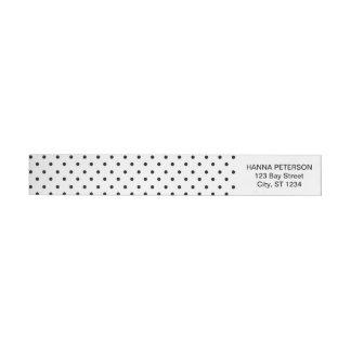 Polka dots return address wrap label wraparound return address label