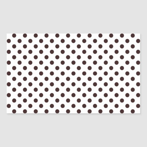 Polka Dots - Seal Brown on White Stickers