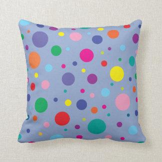 Polka Dots   Serenity Blue   Change BG colour Cushion