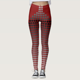 Polka Dots Silver and Grey Leggings