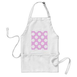 Polka Dots, Spots (Dotted Pattern) - Pink White Standard Apron