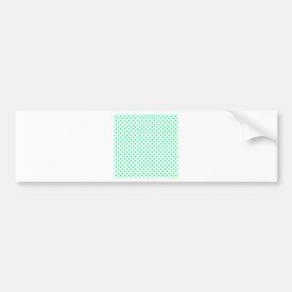 Polka Dots - Spring Green on White Bumper Sticker