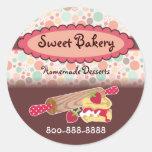 Polka Dots Strawberry Scone Stickers