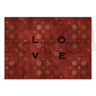 Polka dots Valentine's Day Card with Your Names