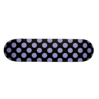 Polka Dots Violet Tulip Custom Skateboard