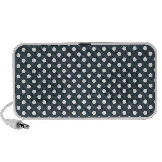 Polka Dots - White on Charcoal Mini Speakers