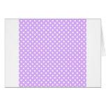 Polka Dots - White on Mauve Cards