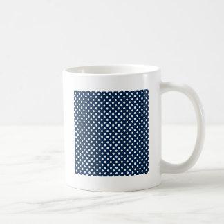 Polka Dots - White on Oxford Blue Mugs