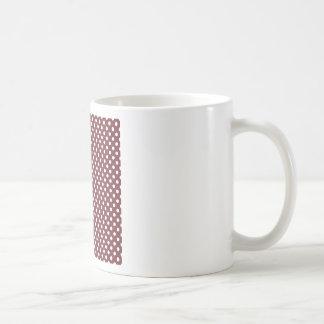 Polka Dots - White on Wine Coffee Mugs