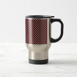 Polka Dots - White on Wine Mug