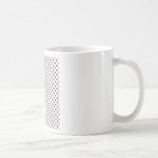 Polka Dots - Wine on White Coffee Mug