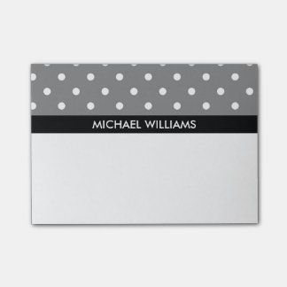 Polka Dots with Black Stripes Post-it Notes