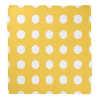 Polka Dots Yellow Bandana