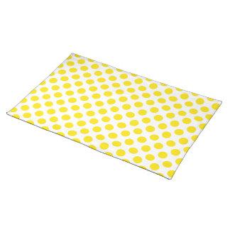 Polka Dots Yellow Placemats