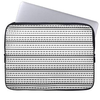 Polka Dotted Line Pattern Electronics Bag