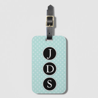 Polka Dotted Luggage Tag