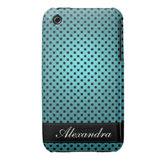 Polka Dotted Retro Blue iPhone 3 Case-Mate Case