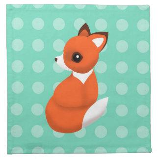 Polka Fox Cloth Napkins