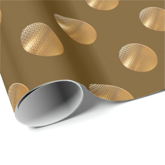 Polka golden dots wrapping paper