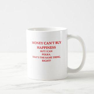 polka classic white coffee mug