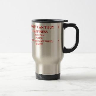 polka 15 oz stainless steel travel mug