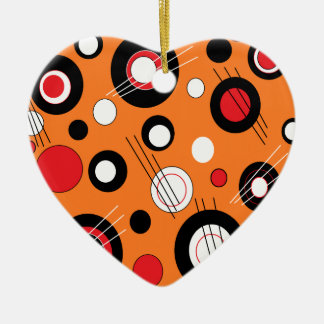 Polka Orange Christmas Ornament