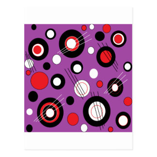 Polka Purple Postcard