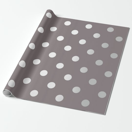 Polka Small Dots Brown Maroon Beige Silver Gray